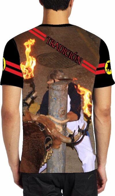 camiseta con toro embolado