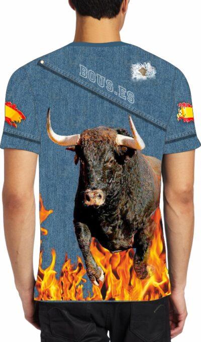 camiseta de toros toro colorado
