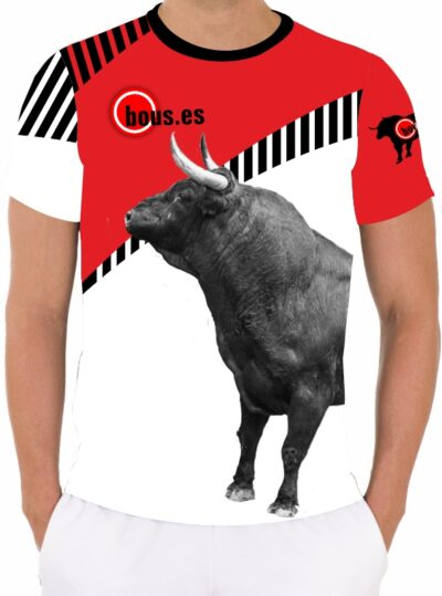 Camiseta de toros con toro negro