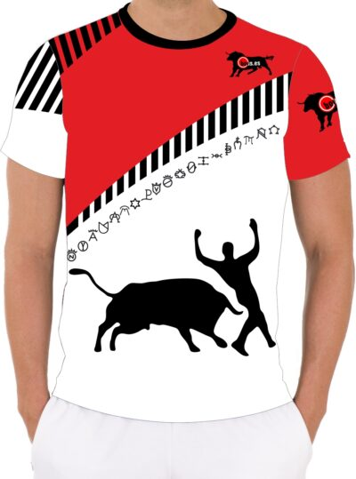 Camiseta con recorte taurino
