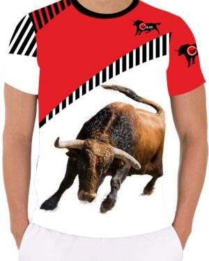 Camiseta toro bravo Colorado