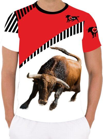 Camiseta toro bravo Colorado