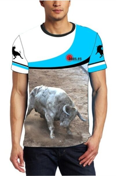 Camiseta toros toro jabonero claro
