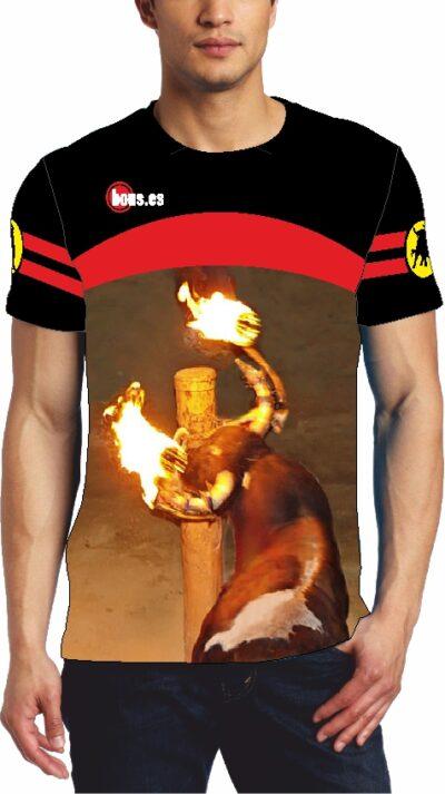 Camiseta taurina con Toro embolado