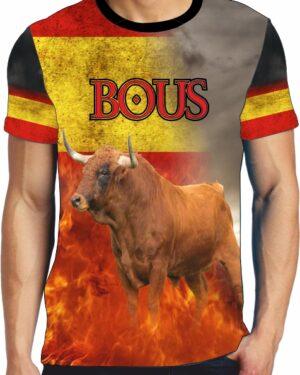 Camiseta Toro Cardeno con llamas