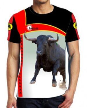 Camiseta Taurina con toro bravo negro zaino