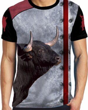 Camiseta Taurina cabeza toro bravo negro