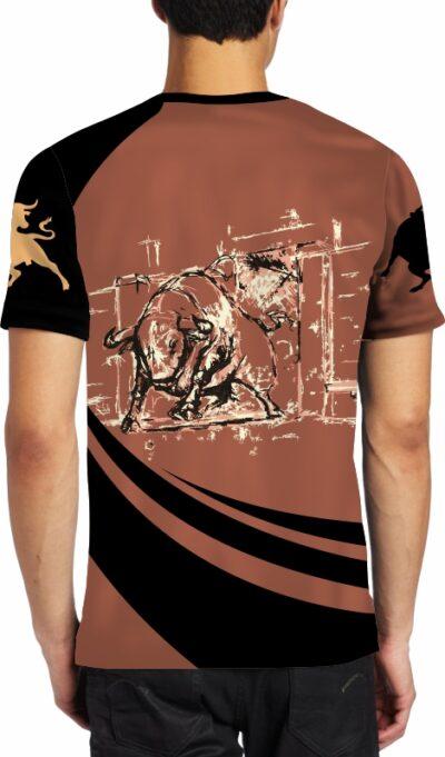 Camisetas toro negro embistiendo