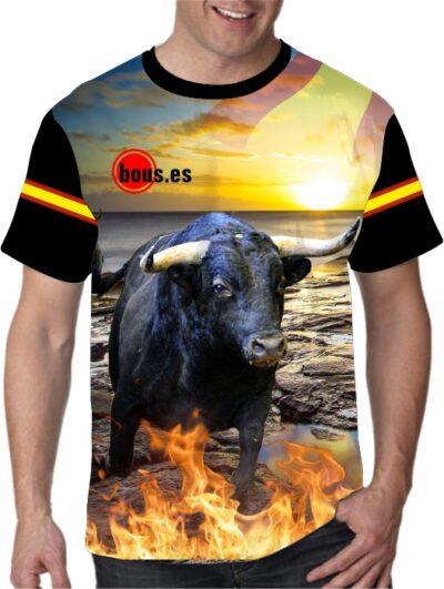Camisetas de toros bravos Apasionado del toro bravo