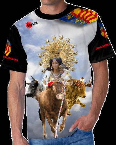 Camiseta de toro con virgen de los desamparados valencia comunidad valenciana